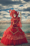 Red heart shaped carnival dress