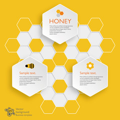 Infographics Vector Background Honeycomb