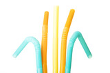 Colorful straws. Vertical view.