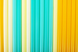 Composition of colorful straws.