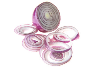 Raw red onion