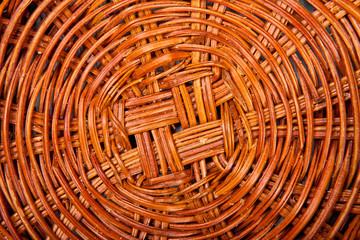 bottom of a wicker basket background