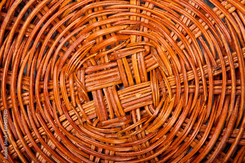bottom of a wicker basket background