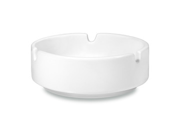 White ceramic ashtray