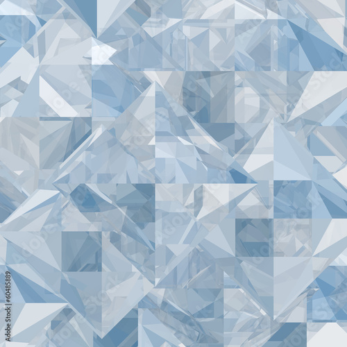 canvas print picture Abstract ice geometric background