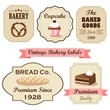 Set of vintage retro bakery labels, stamps and design elements