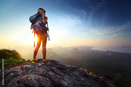 Foto op Aluminium Overige Hiker