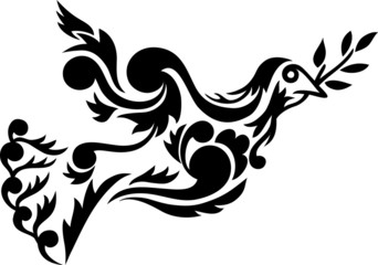 tribal dove vector illustration