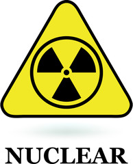 Nuclear sign on white