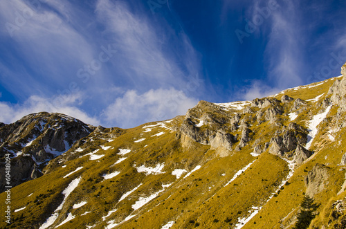 Carpathian Mountain ridge, Romania
