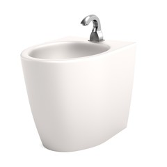 realistic 3d render of bidet