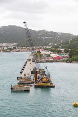 New Pier Construction in St Thomas