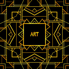 Abstract geometric art patterned background (1920's style).
