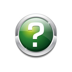 Question Mark  Circular Rounded  Vector Icon Button