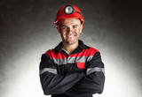 Smiling coal miner - 60489465