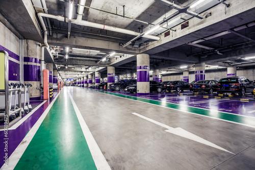 Underground parking aisle - 60489475