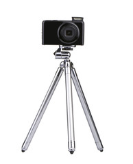 Vintage little Photo tripod with camera
