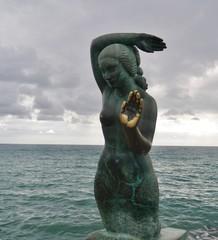 Statue einer Merrjungfrau