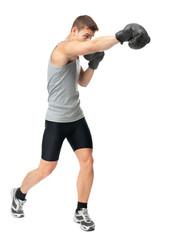 Boxer making punch