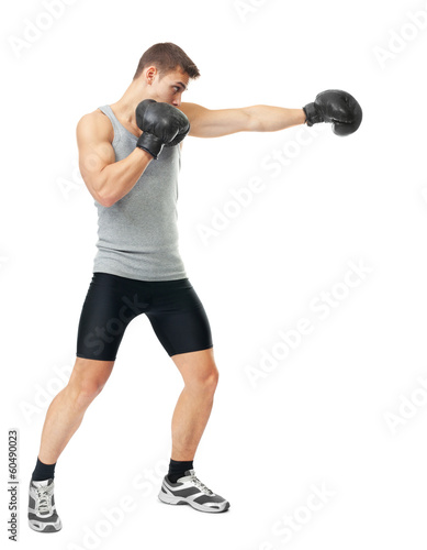 Boxer making punch