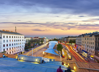 View from the Vienna City Library on the Urban-Loritz-Platz