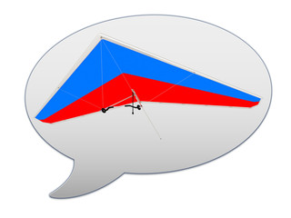 messenger window icon Hang glider