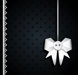 Gift dark background with white bow