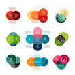 Set of circle shape vector infograph templates