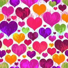 Vivid motley seamless valentine pattern