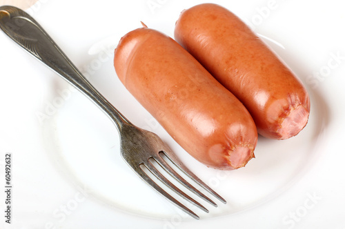 Sausage and fork