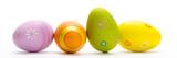 4 bunt bemalte eier banner