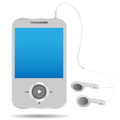 mp3 player on the white background. Vector illustration.