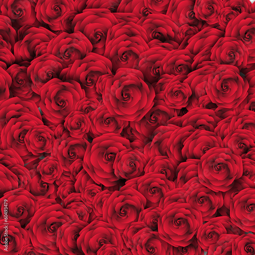 Valentine's Day Background with Roses