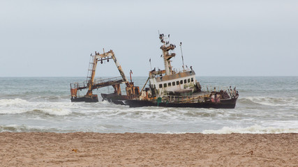 Zeila Shipwreck stranded on 25th August 2008 in Namibia