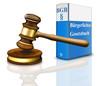 Bürgerliches Gesetzbuch und Gerichtshammer  freigestellt