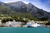 Ferry and boats in Capri island