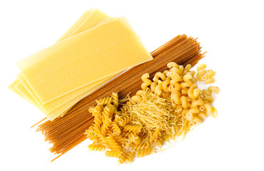 Types of raw pasta