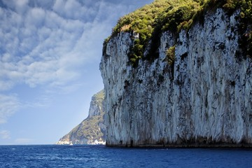 Cliff in the west coast of Capri island