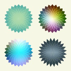 Abstract polygonal vector background  that reminds a flowers.