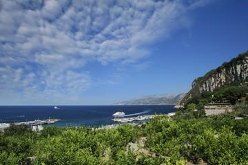 Capri island coast