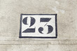 Number twenty three on a wall