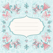 Beautiful floral holiday card