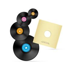 Vector Vinyl Record Discs