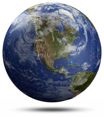 Earth globe - USA