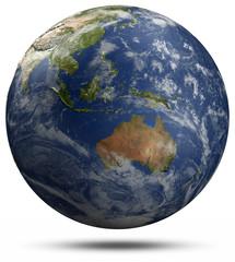 Earth globe - Australia and Oceania
