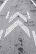 Traffic sign on asphalt
