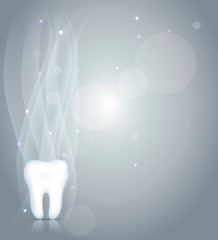 Sparkling Dentistry background with tooth