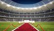 Stadion mit Siegertreppe
