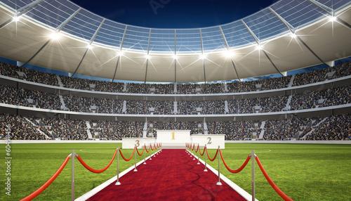 Foto op Canvas Stadion Stadion mit Siegertreppe