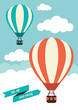 Hot Air Balloon Vintage Graphic